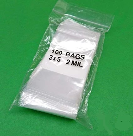 "iMBAprice 3 x 5"" 2 Mil Reclosable Bags - 1000"