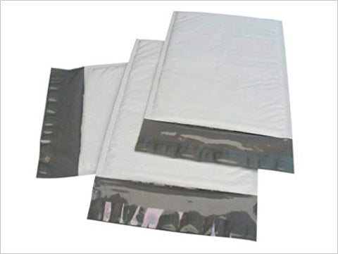 "iMBAPrice #7 100- Pack (14 1/4 x 20"")Poly Bubble Mailers Padded Envelopes  White, 100 Count"