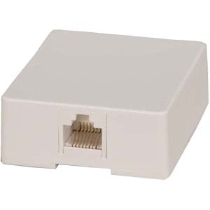 RJ45 Modular Single Port Surface Mount Jack White