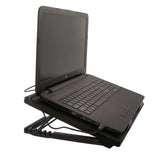 "Cooling Pad for 12- 17"" Laptop, Multi-angle Stand 5 Fan, USB Port"