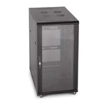 22U Server Rack, Glass Front/Vented Rear