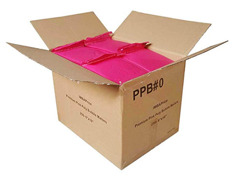 iMBA price 250 - #0-6x10 Poly Bubble MAILERS Padded ENVELOPES Pink