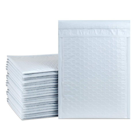 "iMBAPrice #6 12 x 19.5"" White POLY BUBBLE MAILERS PADDED ENVELOPES, (100 ct)"