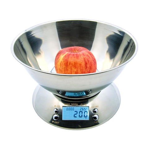 5Kg (11LBS) Food Grade Stainless Bowl Kitchen Scale NS-K21