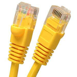 6Ft Cat5E Shielded (FTP) Ethernet Network Booted Cable Yellow
