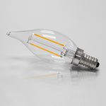 6-Pack 2W LED Filament Candle Bulb 2700K Clear 25W E12 L21202