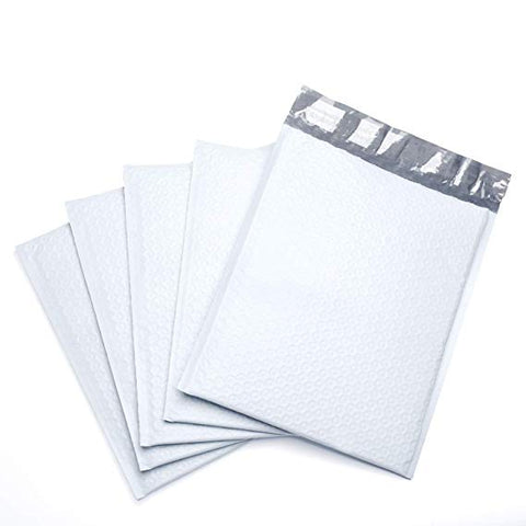 "iMBA-PB-#5 100- Pack ( 10 1/2 x 16"") White Color Self Seal Poly Bubble Mailers Padded Shipping Envelopes (Total 100 Bags)"