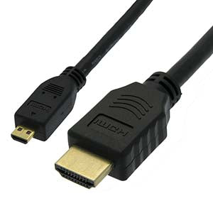 6Ft High Speed HDMI Male/Micro (Type D) Male Cable 30AWG 4K
