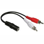 6 inch 3.5mm Stereo Jack to 2xRCA Male Cable