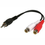 6inch RCA-Male to RCA-Female x2