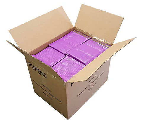 "iMBA-PB-#4 100- Pack  ( 9 1/2 x 14 1/2"")  Purple Color Self Seal Poly Bubble Mailers Padded Shipping Envelopes (Total 100 Bags)"