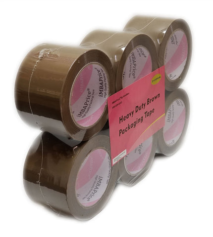 "iMBAPrice 3-Inches Shipping Packaging Tape - 1 Box of Premium (6 Roll of 110 Yards) 6 x 330 Feet Long 3"" Wide Brown/Tan Color Packing Tape"