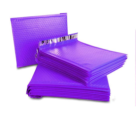 "iMBAPrice #7 100- Pack (14 1/4 x 20"")Poly Bubble Mailers Padded Envelopes Purple, 100 Count"