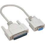 10Ft DB9-F/DB25-M Serial Cable