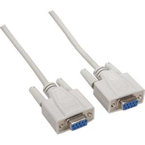 25Ft DB9 F/F Null Modem Cable