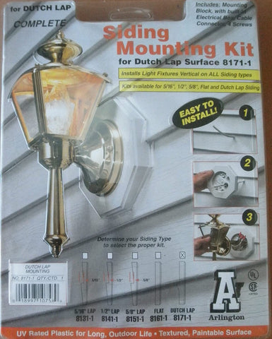 Arlington 8171-1 Siding Mounting Kit for Dutch Lap Surface