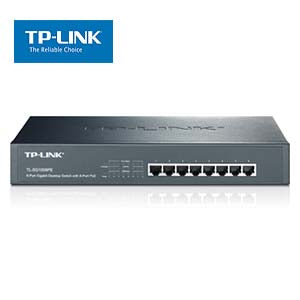 8Port 10/100/1000Mbs Desktop/Rackmount Gigabit Switch with 8-Port PoE TP-Link SG1008PE