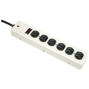 3Ft 6Outlet Power Strip Metal Case