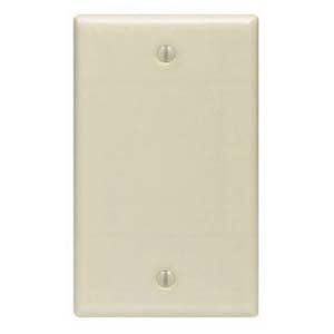 Blank Wall Plate Ivory Smooth Face