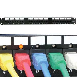 Cat.5E 110 Patch Panel 24Port Rackmount w/LED Indicator