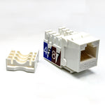 Cat.5E RJ45 110 Type Keystone Jack White