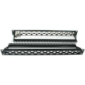 Cat.6A 24-Port Snap-in Shielded Blank Patch Panel