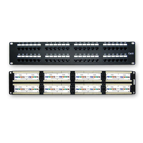 Cat.6 110 Type Patch Panel 48Port Rackmount