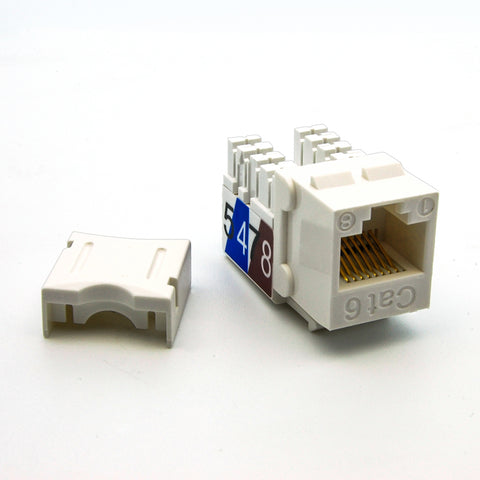 Cat.6 RJ45 110 Type Keystone Jack White