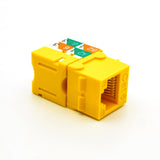 Cat.6 RJ45 110 Type Keystone Jack Yellow