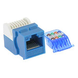 Cat.6 Tool Less Keystone Jack Blue