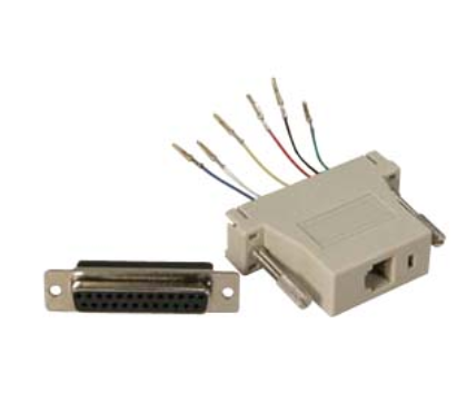DB25 Female to RJ11/12 (6 wire) Modular Adapter