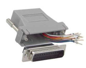 DB25 Female to RJ11 (4 wire) Modular Adapter Gray