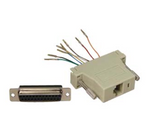 DB25 Female to RJ45 Modular Adapter Ivory