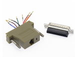 DB25 Male to RJ45 Modular Adapter