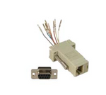 DB9 Female to RJ45 Modular Adapter Ivory