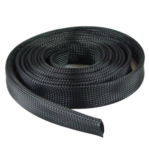 "Expandable Braided Cable Sock Black 1/2""(12.7mm) x 50Ft(15.24m)"