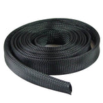"Expandable Braided Cable Sock Black 2""(50.8mm) x 100Ft (30.48m)"