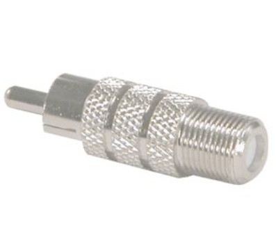 F-Type Female to RCA Plug Adapter