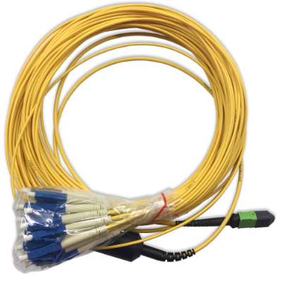 Fiber Optic MPO-LC/UPC Trunk Cable, 24core, SM G657A2, LSOH,2M