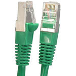 5Ft Cat5E Shielded (FTP) Ethernet Network Booted Cable Green