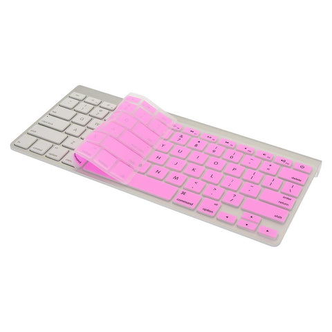 "Keyboard Cover Pink Silicone Skin for MacBook Pro 13"" 15"" (2015 or Older Version), iMac"