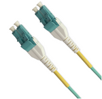 LC uniboot patch cord 10Gb 50/125 OM3 cable,2M Aqua Jacket