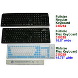 Mid Size Flexible Keyboard, Black/Gray