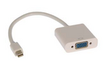 Mini DisplayPort (Thunderbolt) Male to VGA Female Adapter