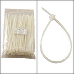 "8"" Nylon Cable Tie 50lbs Clear 100pk"