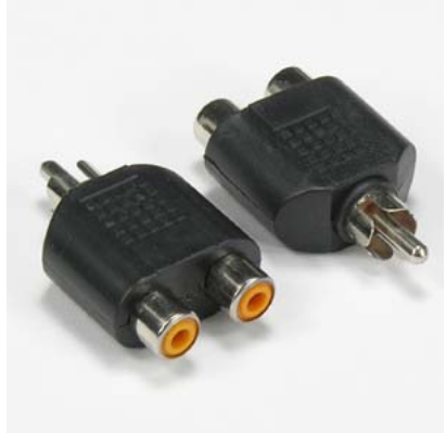 RCA Plug to 2 x RCA Jack Adapter