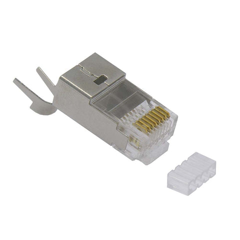 RJ45 CAT.7 Shielded Plug Solid 50Micron 3 Prong 20pcs