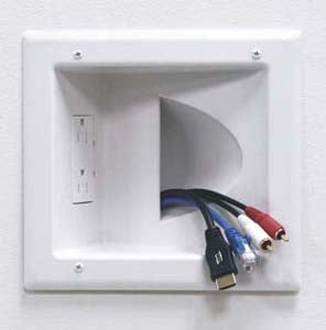 Recessed Media Plate with Duplex Receptacle