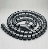"Spiral Cable Zip Wrap Black 15mm x 1.5m (0.6"" x 4.92Ft)"