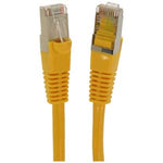 7Ft Cat5E Shielded (FTP) Ethernet Network Booted Cable Yellow